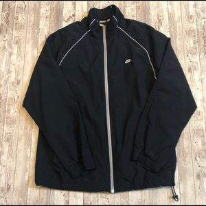 Nike fully lined black windbreaker jacket